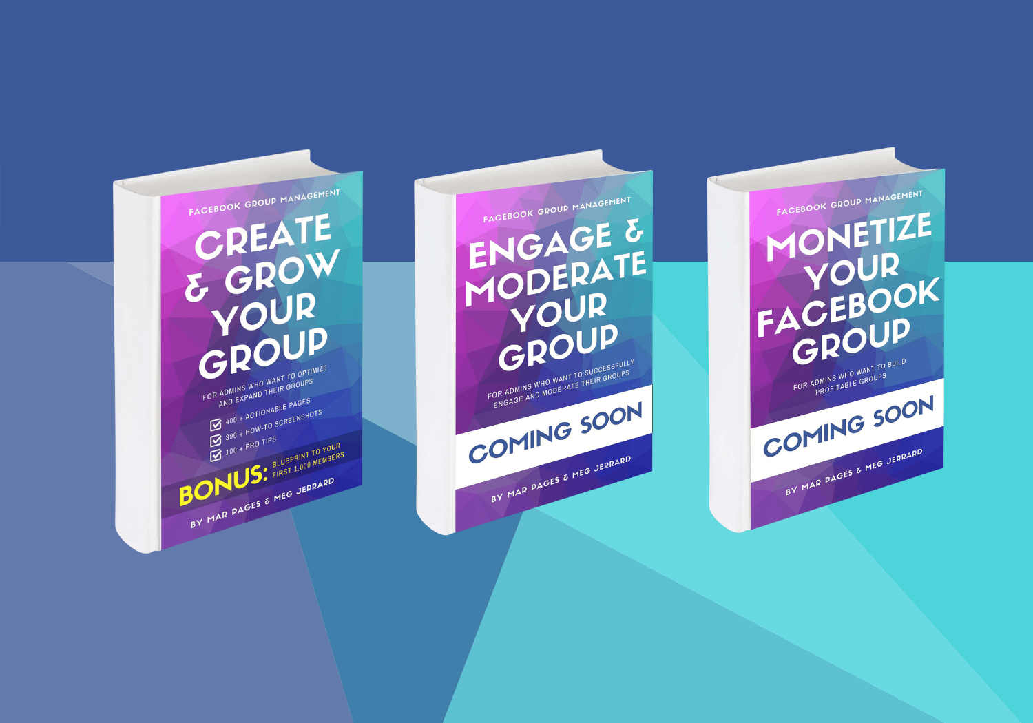 Facebook Group Management Trilogy of Books