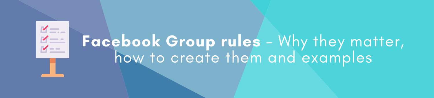 Facebook Group rules feature image