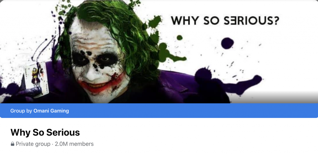 Why so serious group