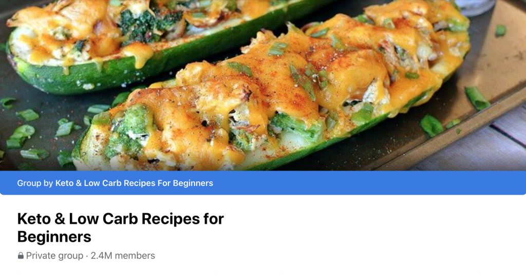 Keto & low carb recipes for beginners
