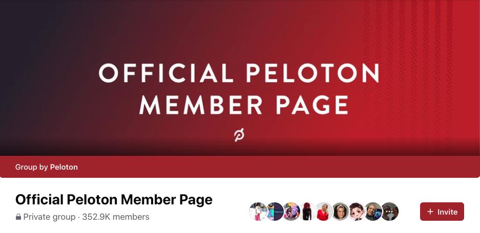 Peloton bike group