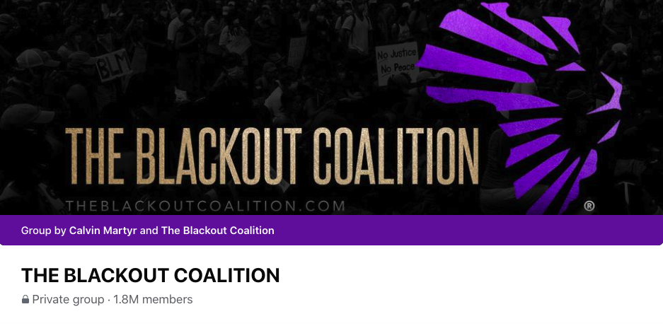 The blackout coalition group