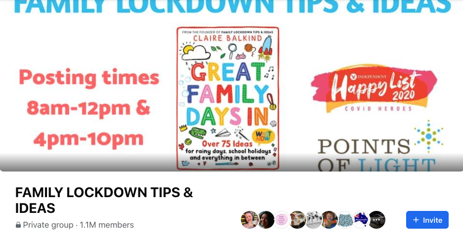 Family lockdown tips & ideas