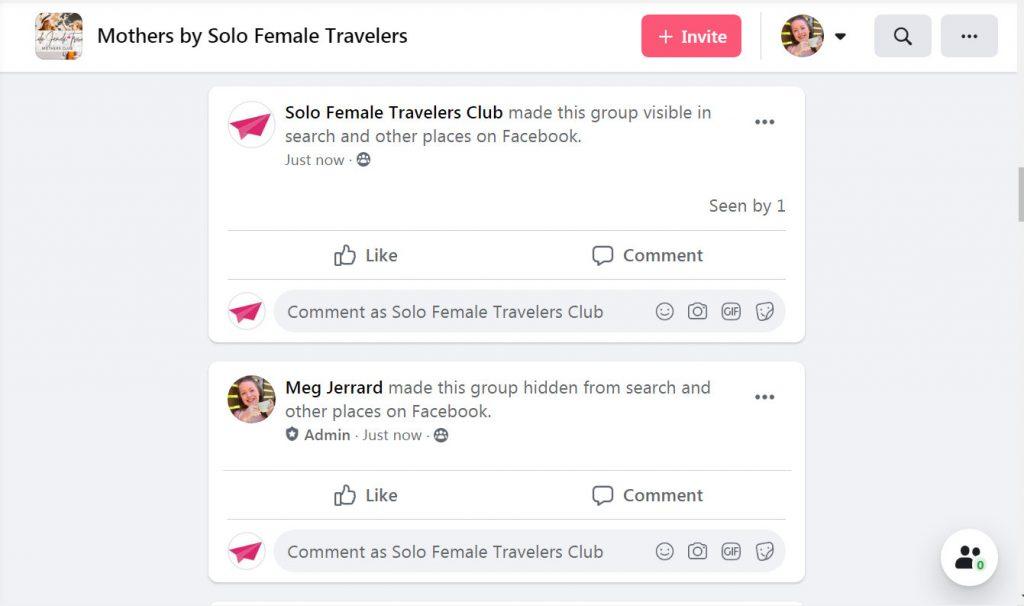 Hidden facebook groups vs visible